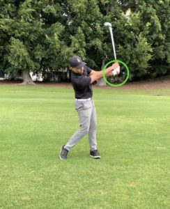 Dominant side during golf swing
