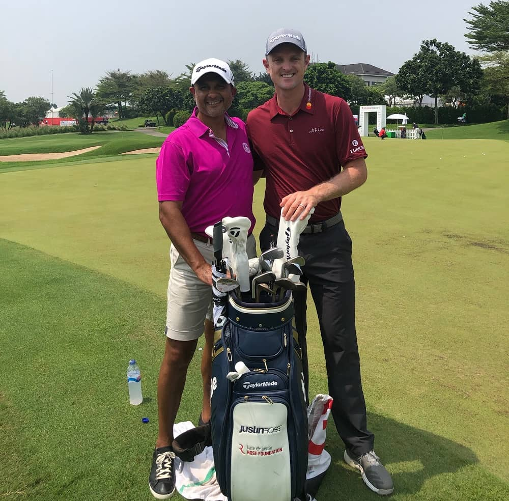 Kam worked with golf pro Justin Rose
